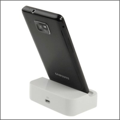 Samsung Galaxy S2 i9100 Data Dock Ladestation ( Weiss )
