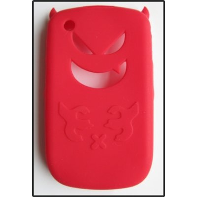 BlackBerry Curve 8520 8530 3G 9300 3G 9330 Cover Schutzhülle Silikon Adorable Style ( Rot )
