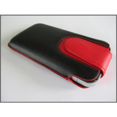 iPhone 3 & 3GS iPhone 4 & 4S Case Handytasche Ledertasche ( Zunge / Rot )