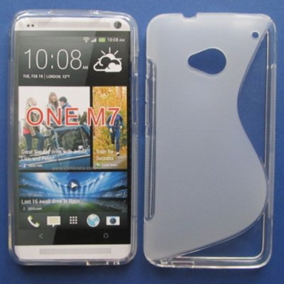 HTC One M7 Cover Schutzhülle TPU Silikon S-Line ( Transparent )