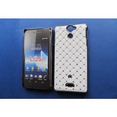 Sony Ericsson Xperia V Cover Schutzhülle Bling Diamond Skinning Style Weiss