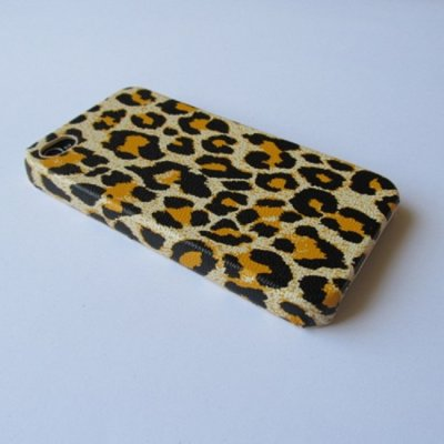 iPhone 4 iPhone 4S Cover Schutzhülle Leopard Style ( Gelb )