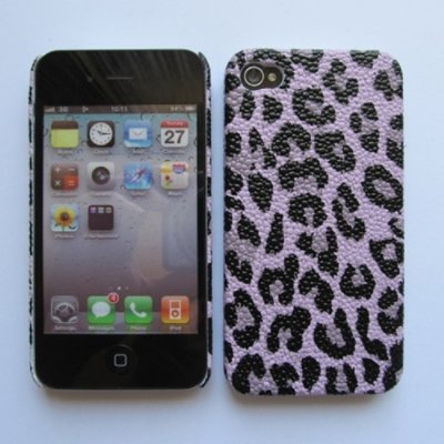 iPhone 4 Cover Schutzhülle Leopard Style ( Lila )