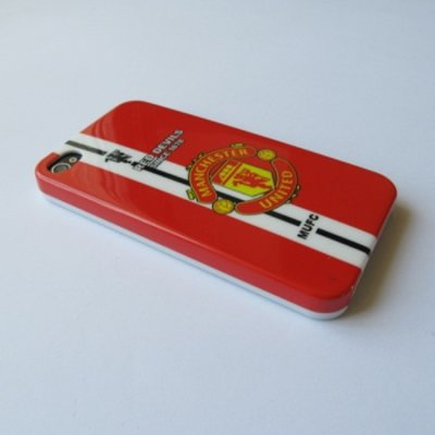 iPhone 4 iPhone 4S Cover Schutzhülle Fussball Manchaster United Motiv