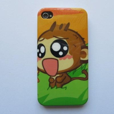 iPhone 4 iPhone 4S Cover Schutzhülle Cartoon Motiv ( Affe )
