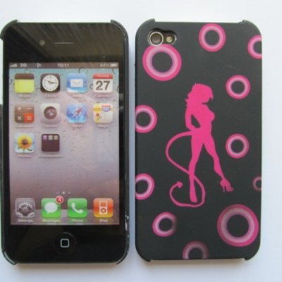 iPhone 4 iPhone 4S Cover Schutzhülle Sexy Girl Motiv ( Devil Girl )