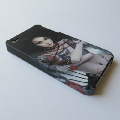 iPhone 4 iPhone 4S Cover Schutzhülle Sexy Girl Motiv ( mit Tattoos )