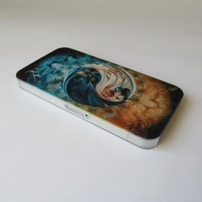 iPhone 4 iPhone 4S Cover Schutzhülle Ying Yang Motiv ( Geist )