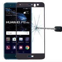 Huawei P10 Lite Displayschutzglas Panzerfolie Full Screen...