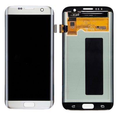 Samsung Galaxy S7 Edge Display LCD Display + Touchscreen Digitizer Silber