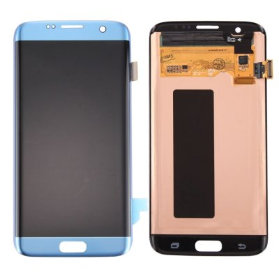 Samsung Galaxy S7 Edge Display LCD Display + Touchscreen Digitizer Blau