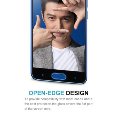Huawei Honor 9 Displayschutzglas Panzerfolie Full Tempered Glass Schwarz