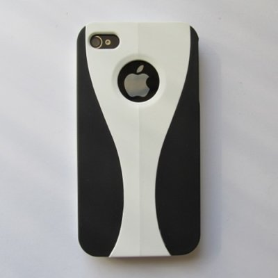 iPhone 4 iPhone 4S Cover Schutzhülle Front & Split Style ( Weiss )