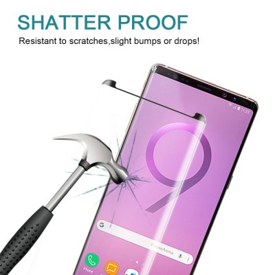Samsung Galaxy Note 9 Displayschutzglas Panzerfolie Full Tempered Glass Schwarz