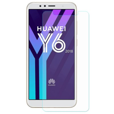 Huawei Y6 (2018) Displayschutzglas Panzerfolie Tempered Glass