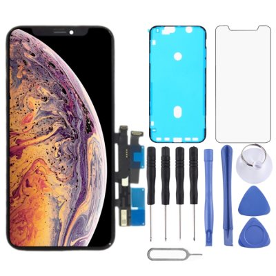 iPhone XR Display LCD Bildschirm Touch Screen Rahmen Schwarz