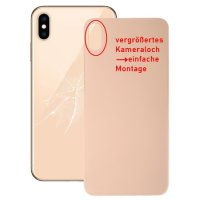 iPhone XS Max Akkufachdeckel Backcover Kameraloch Gross...