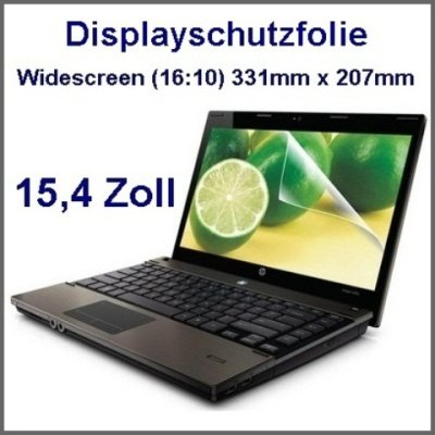 Displayschutzfolie LCD Display Folie 15,4 Zoll Monitore Widescreen (16:10) (331*207mm)