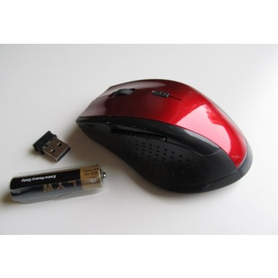 Wireless Optical Mouse 2,4GHZ ( Rot Metalic )